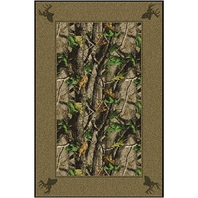 Realtree Hardwood Solid Border Area Rug Rug Size: Rectangle 310 x 54