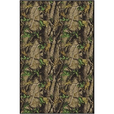 Realtree Hardwood Solid Camo Area Rug Rug Size: Rectangle 54 x 78