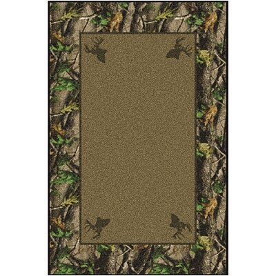 Realtree Hardwoods Solid Center Nylon Pile Area Rug Rug Size: Rectangle 54 x 78
