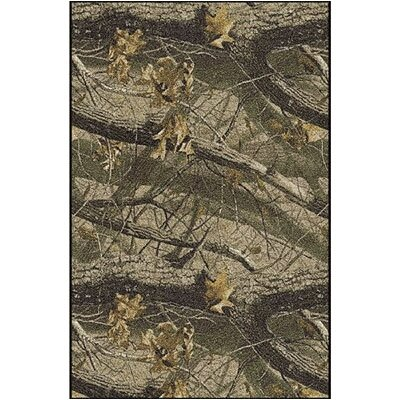 Realtree Hardwoods Solid Camo Area Rug Rug Size: Rectangle 310 x 54