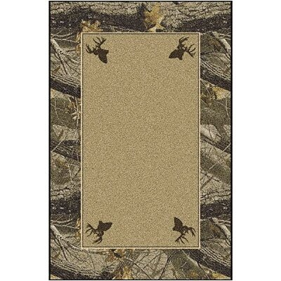 Realtree Hardwoods Solid Center Area Rug Rug Size: Rectangle 310 x 54