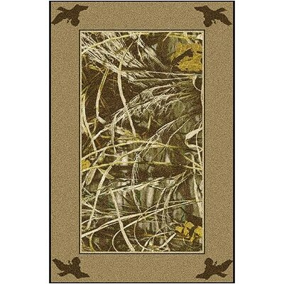 Realtree Max 4 Solid Border Area Rug Rug Size: Rectangle 54 x 78