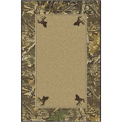 Realtree Timber Solid Center Area Rug Rug Size: Rectangle 310 x 54