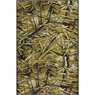 Realtree Wetlands Solid Camo Area Rug Rug Size: Rectangle 54 x 78