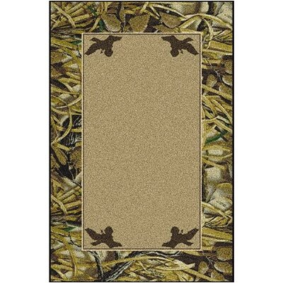 Realtree Wetlands Solid Center Area Rug Rug Size: 54 x 78