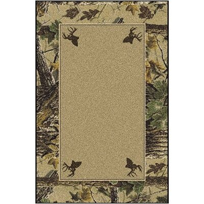 Realtree X-tra Solid Center Area Rug Rug Size: Rectangle 54 x 78