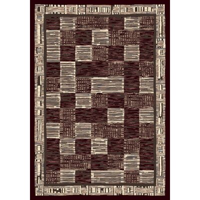Innovation Kirala Dark Chocolate/Slate Area Rug Rug Size: Oval 310 x 54