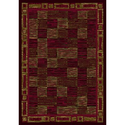 Innovation Kirala Dark Chocolate/Brick Area Rug Rug Size: 54 x 78