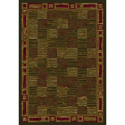 Innovation Kirala Olive Area Rug Rug Size: Rectangle 54 x 78