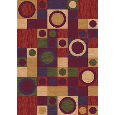 Pastiche Rialto Dark Red Area Rug Rug Size: Rectangle 109 x 132