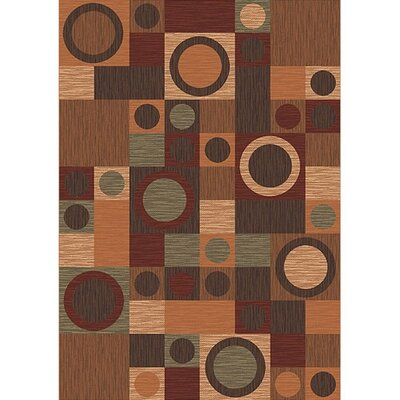 Pastiche Rialto Maple Area Rug Rug Size: Oval 54 x 78