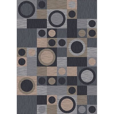 Pastiche Rialto Grey Area Rug Rug Size: Rectangle 54 x 78