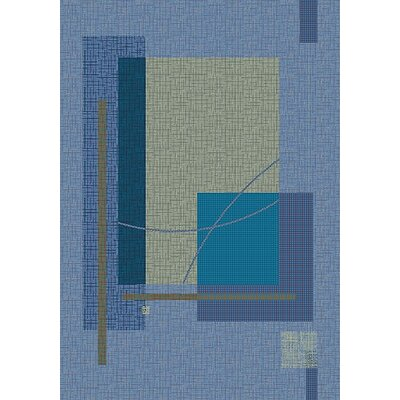 Pastiche Fairmont Fresh Blue Rug Rug Size: Rectangle 54 x 78