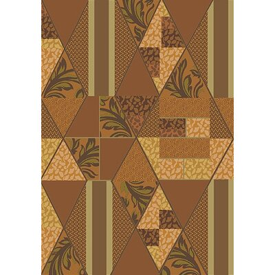 Pastiche Valencia Sunset Gold Area Rug Rug Size: Rectangle 78 x 109