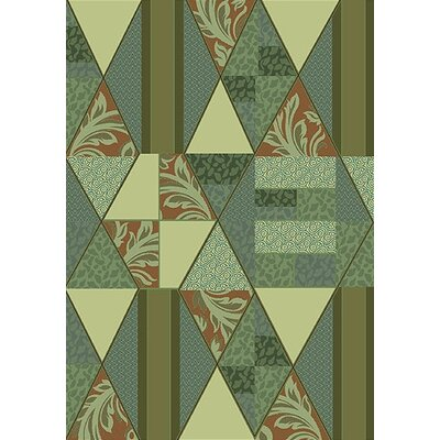 Pastiche Valencia Beechnut Green Area Rug Rug Size: Rectangle 21 x 78