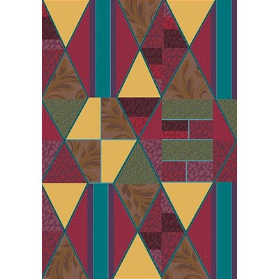 Pastiche Valencia Red Cinnamon Area Rug Rug Size: Rectangle 109 x 132