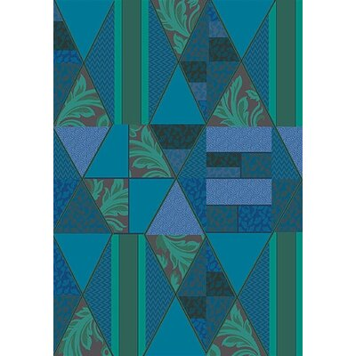 Pastiche Valencia Cabana Blue Area Rug Rug Size: Rectangle 78 x 109