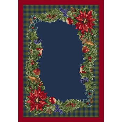 Winter Bountiful Green/ Blue Area Rug Rug Size: Rectangle 54 x 78