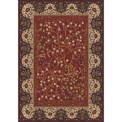 Pastiche Kashmiran Balsa Cordovan Area Rug Rug Size: Rectangle 2'1