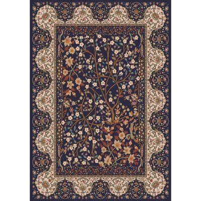 Pastiche Kashmiran Balsa Black Currant Area Rug Rug Size: Rectangle 78 x 109