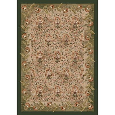 Pastiche Kashmiran Caramay Yew Tree Green Area Rug Rug Size: Rectangle 109 x 132