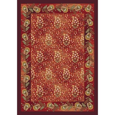 Pastiche Kashmiran Caramay Indian Berry Area Rug Rug Size: Oval 78 x 109
