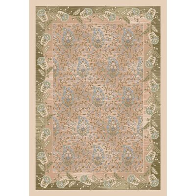 Pastiche Kashmiran Caramay Bone Beige Area Rug Rug Size: Rectangle 109 x 132