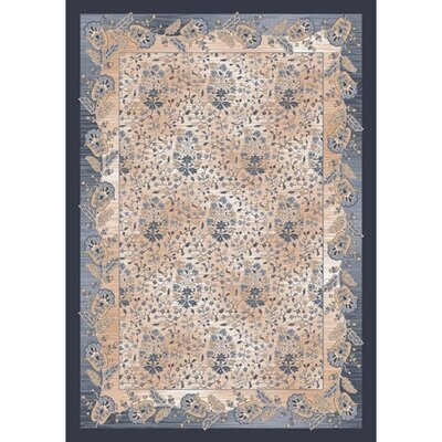 Pastiche Kashmiran Caramay Blue Smoke Area Rug Rug Size: Rectangle 28 x 310