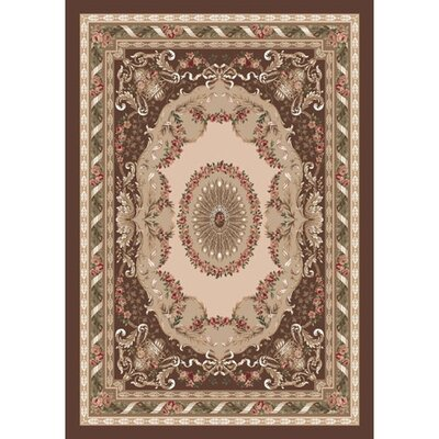 Pastiche Kashmiran Marquette Brunette Brown Area Rug Rug Size: Rectangle 109 x 132