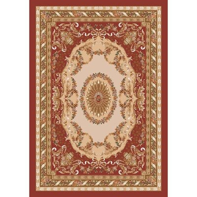 Pastiche Kashmiran Marquette Burnt Brick Red Area  Rug Rug Size: Rectangle 54 x 78