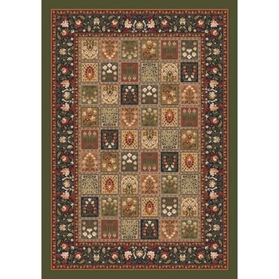 Pastiche Kashmiran Pristina Deep Olive Area Rug Rug Size: Rectangle 310 x 54
