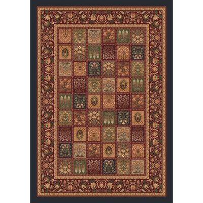 Pastiche Kashmiran Pristina Ebony Area Rug Rug Size: Rectangle 109 x 132