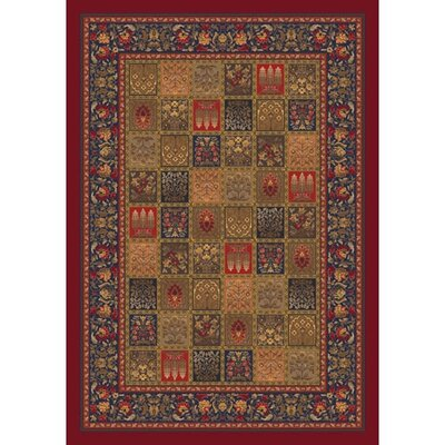 Pastiche Kashmiran Pristina Midnight Red Area Rug Rug Size: Rectangle 28 x 310