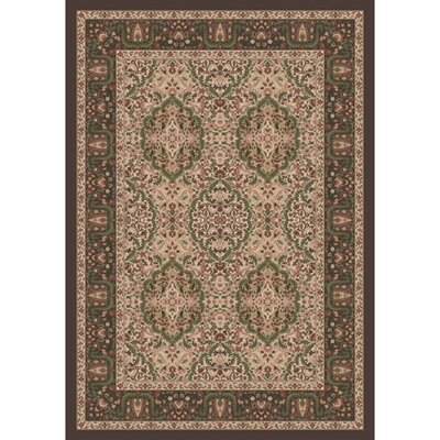 Pastiche Kashmiran Samarra Dark Brown Area Rug Rug Size: Rectangle 109 x 132