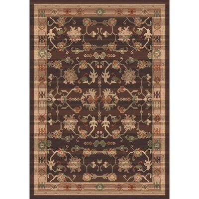 Pastiche Kashmiran Sharak Brunette Brown Area Rug Rug Size: Rectangle 78 x 109