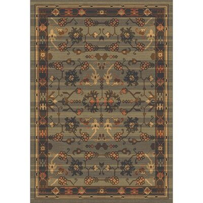 Pastiche Kashmiran Sharak Mossy Green Area Rug Rug Size: Rectangle 78 x 109