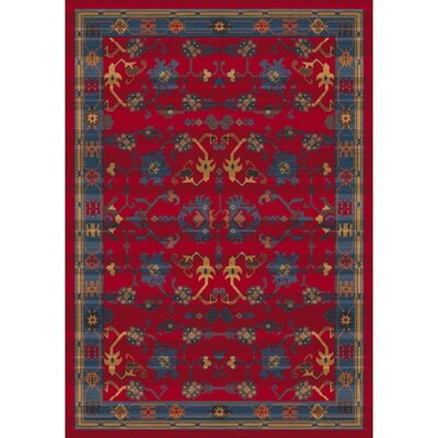 Pastiche Kashmiran Sharak Red Cinnamon Area Rug Rug Size: Rectangle 109 x 132