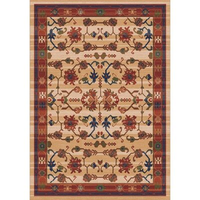 Pastiche Kashmiran Sharak Ecru Brown Area Rug Rug Size: Rectangle 109 x 132