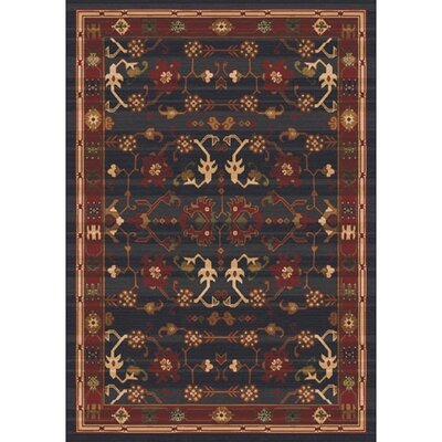 Pastiche Kashmiran Sharak Ebony Area Rug Rug Size: Rectangle 109 x 132