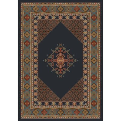Pastiche Kashmiran Terkan Ebony Area Rug Rug Size: Rectangle 78 x 109