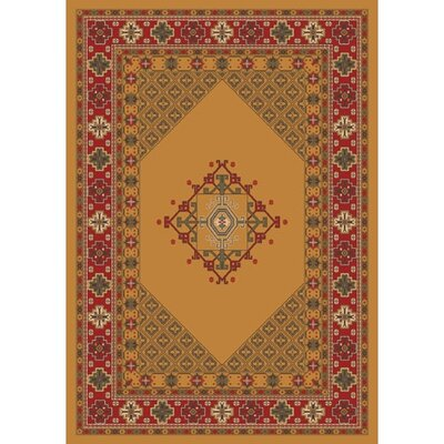 Pastiche Kashmiran Terkan Butterscotch Orange Area Rug Rug Size: Oval 78 x 109