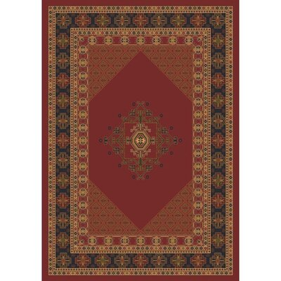 Pastiche Kashmiran Terkan Chili Area Rug Rug Size: Rectangle 109 x 132