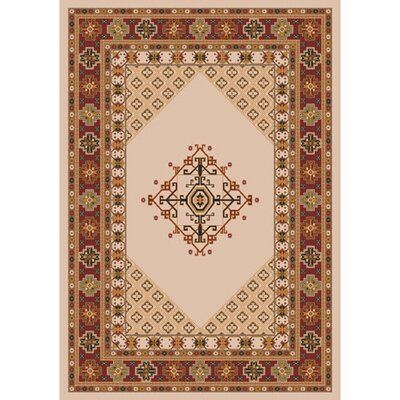 Pastiche Kashmiran Terkan Ecru Brown Area Rug Rug Size: Rectangle 109 x 132