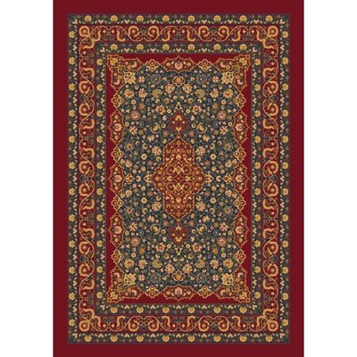 Pastiche Kashmiran Tiraz Tapestry Red Area Rug Rug Size: Rectangle 78 x 109
