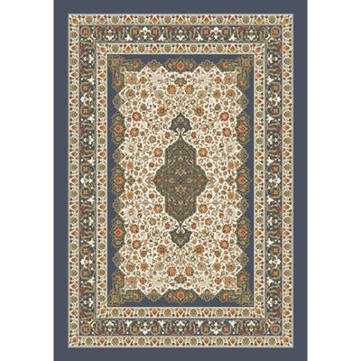 Pastiche Kashmiran Tiraz Pewter Area Rug Rug Size: Rectangle 21 x 78