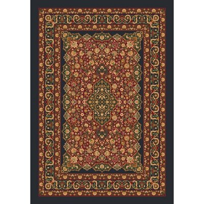 Pastiche Kashmiran Tiraz Ebony Area Rug Rug Size: Rectangle 109 x 132