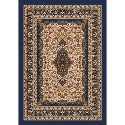 Pastiche Kashmiran Tiraz Phantom Blue Rug Rug Size: Rectangle 109 x 132
