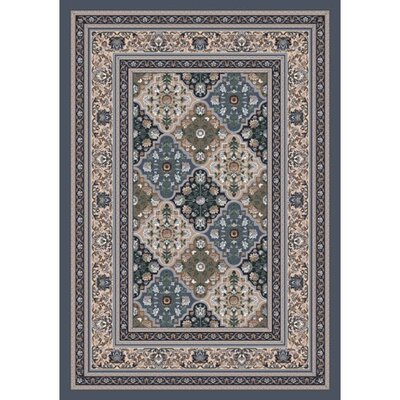 Pastiche Kashmiran Tournai Pewter Rug Rug Size: Rectangle 21 x 78