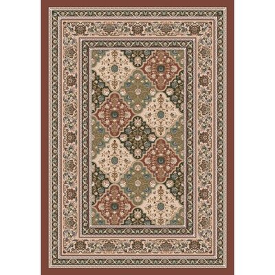 Pastiche Kashmiran Tournai Red Clay Rug Rug Size: Rectangle 78 x 109