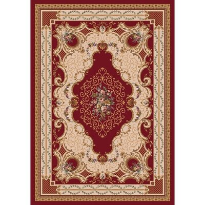 Pastiche Kashmiran Valette Dark Red Area Rug Rug Size: Rectangle 5'4